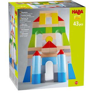 Haba Groot basispakket gekleurde bouwstenen