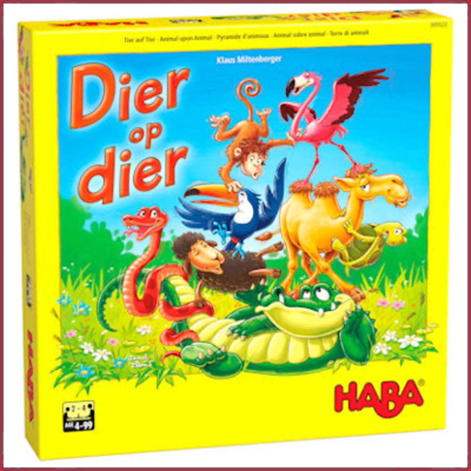 Haba Spel - Dier op Dier - het wankele stapelspel