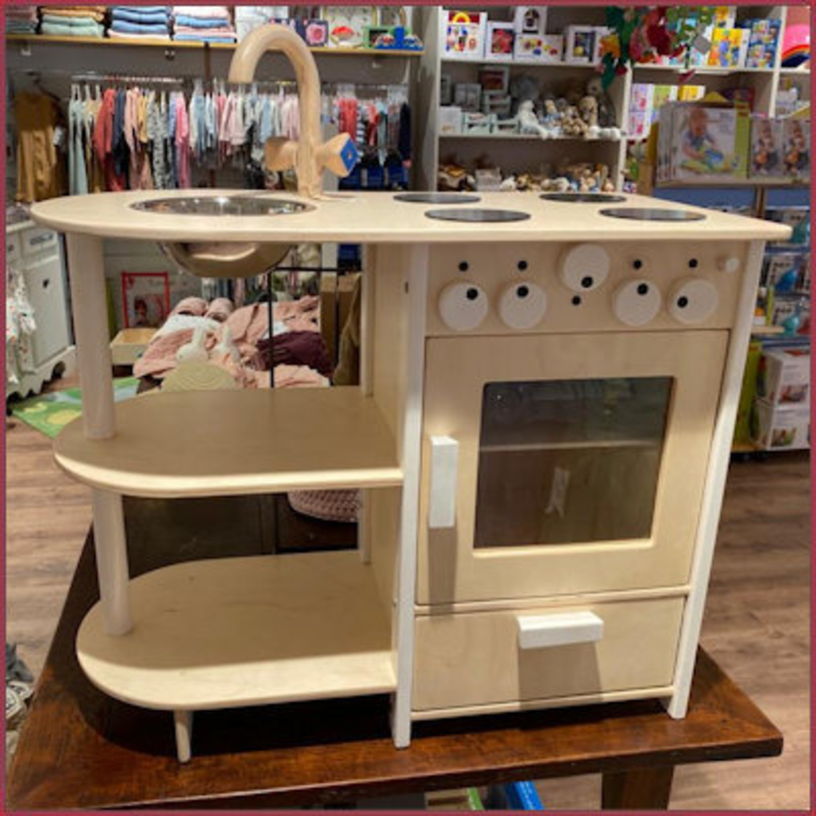 Van Dijk Toys Combi Keuken/Fornuis Kleuter White Wash blank