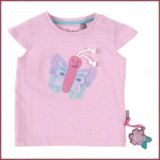 Sigikid T-shirt, zachtrose vlinder
