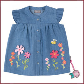 Sigikid Jeans Tuniek met geborduurde bloemen 62-98