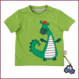 Sigikid T-shirt groen met Dino