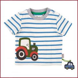 Sigikid T-shirt blauw met tractor