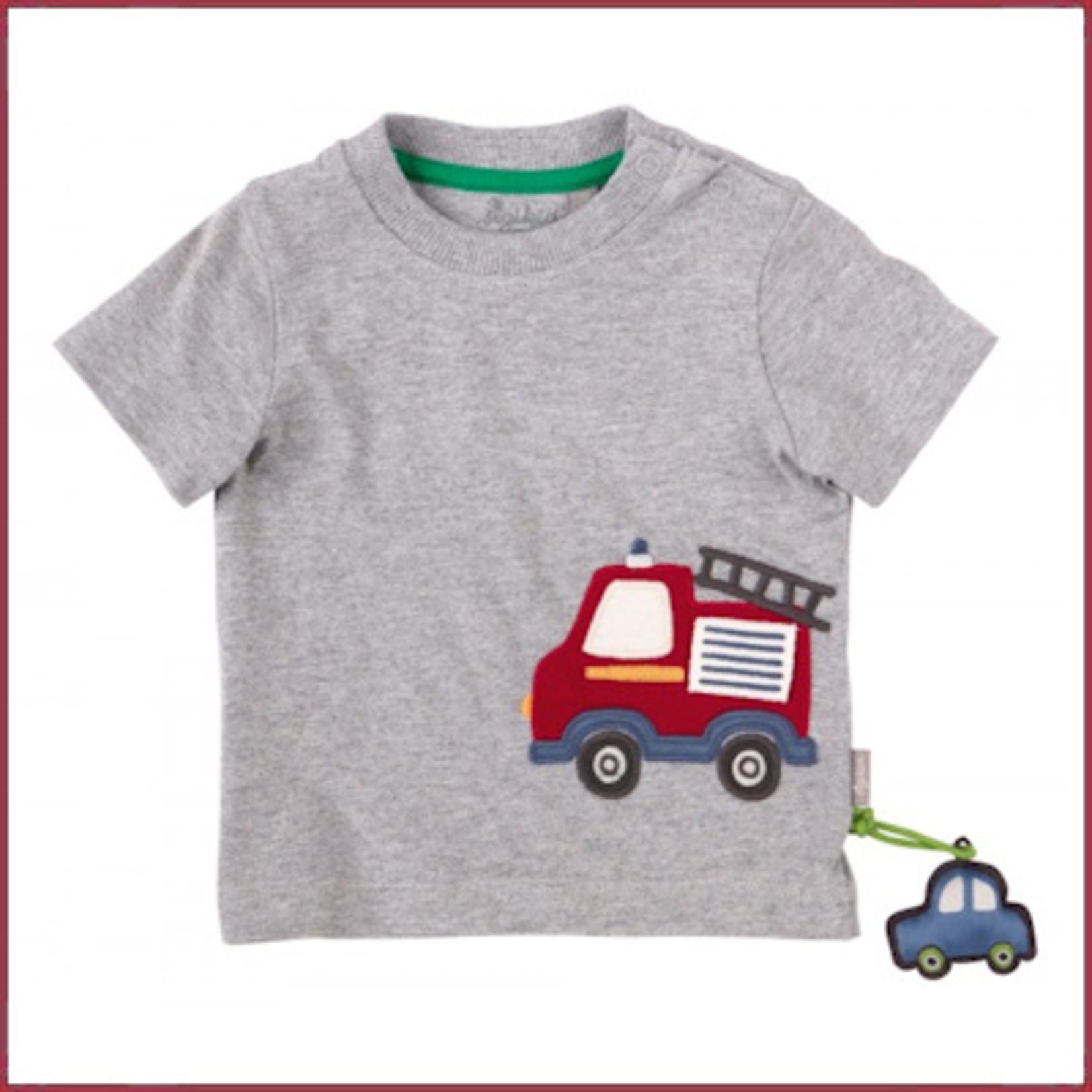 Sigikid T-shirt grijs met brandweerauto