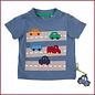 Sigikid T-shirt blauw met autoweg en auto's