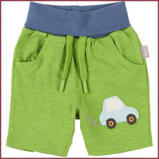 Sigikid Kort broekje groen met auto 62-98