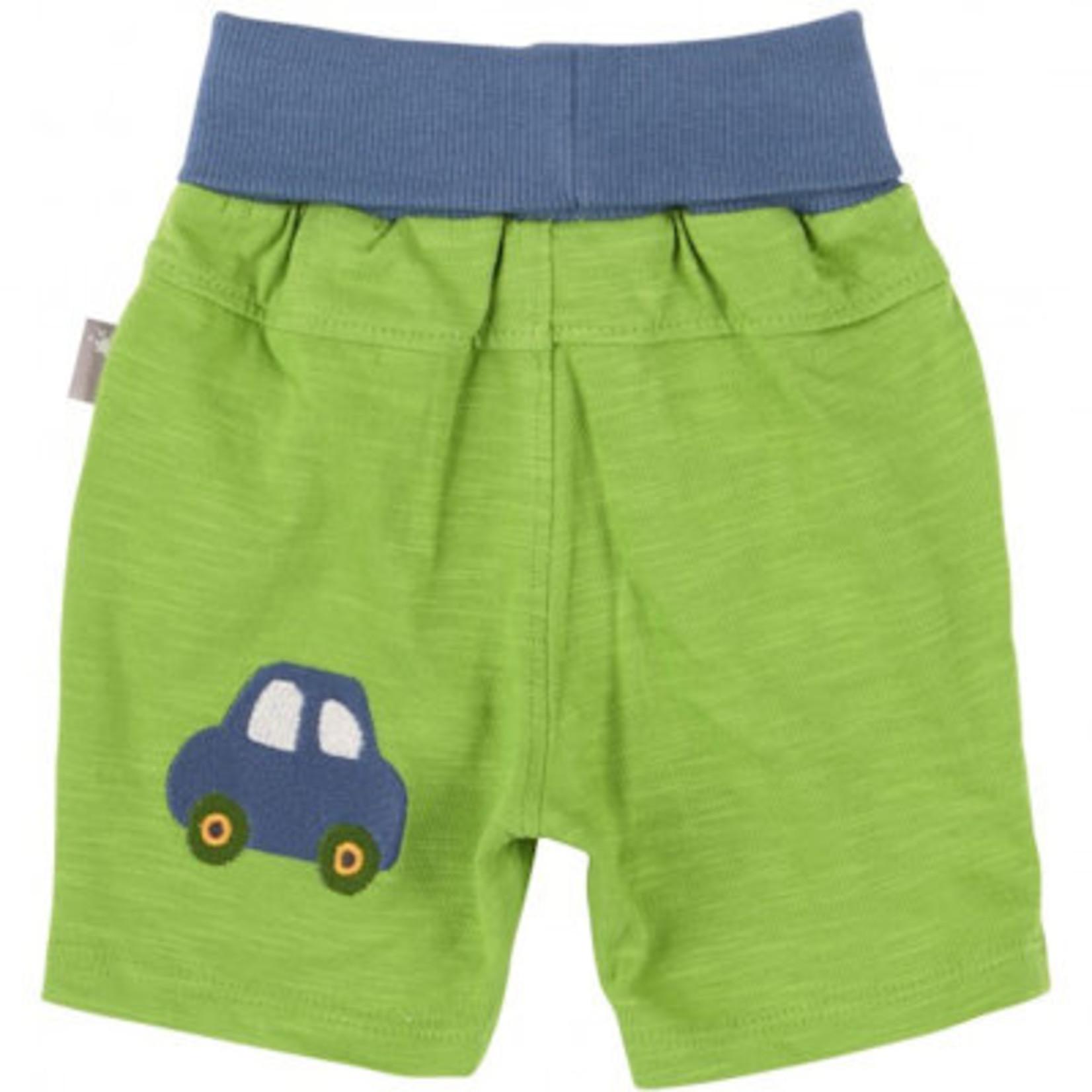 Sigikid Kort broekje groen met auto