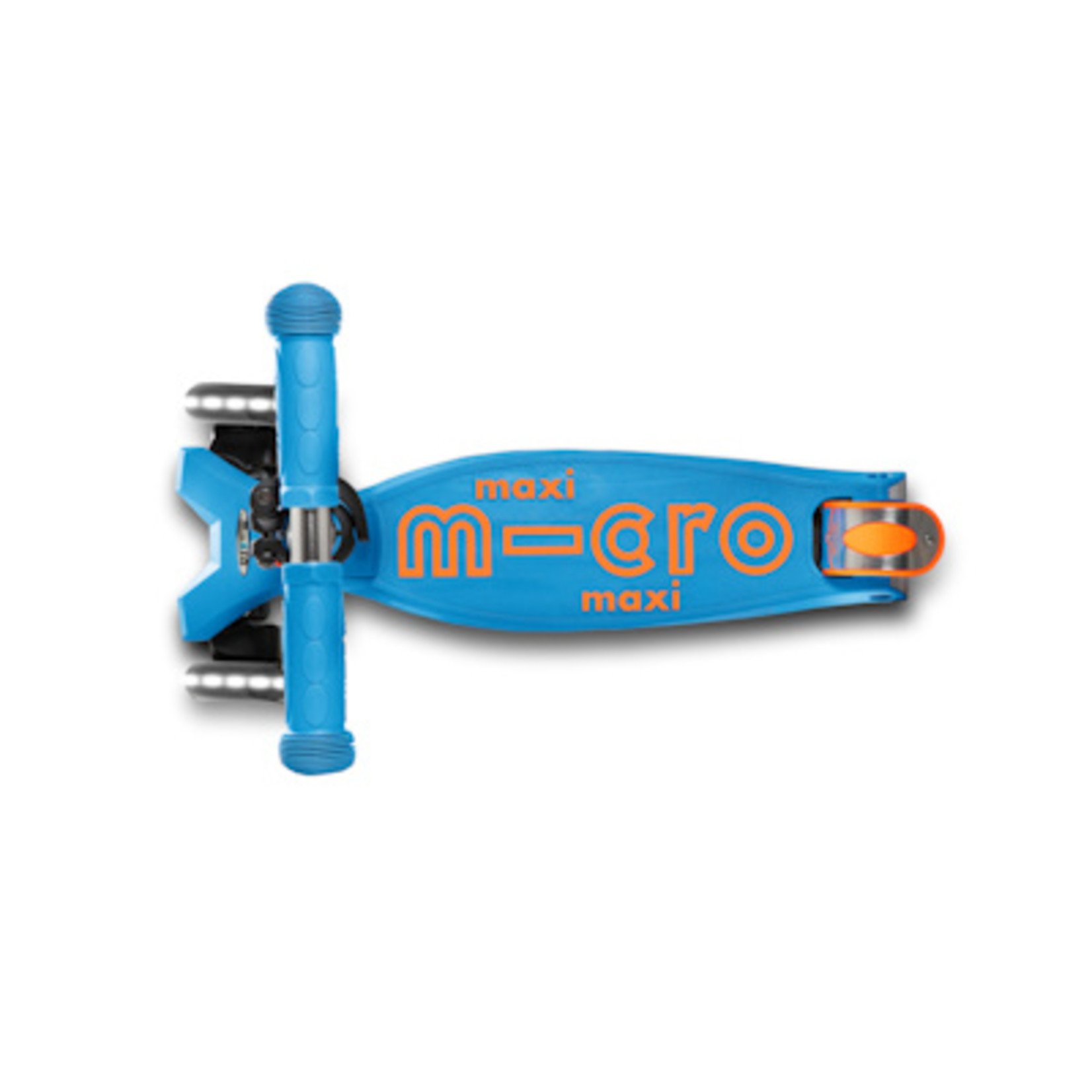 Micro Step Maxi Micro step Deluxe caribbean blauw/oranje LED