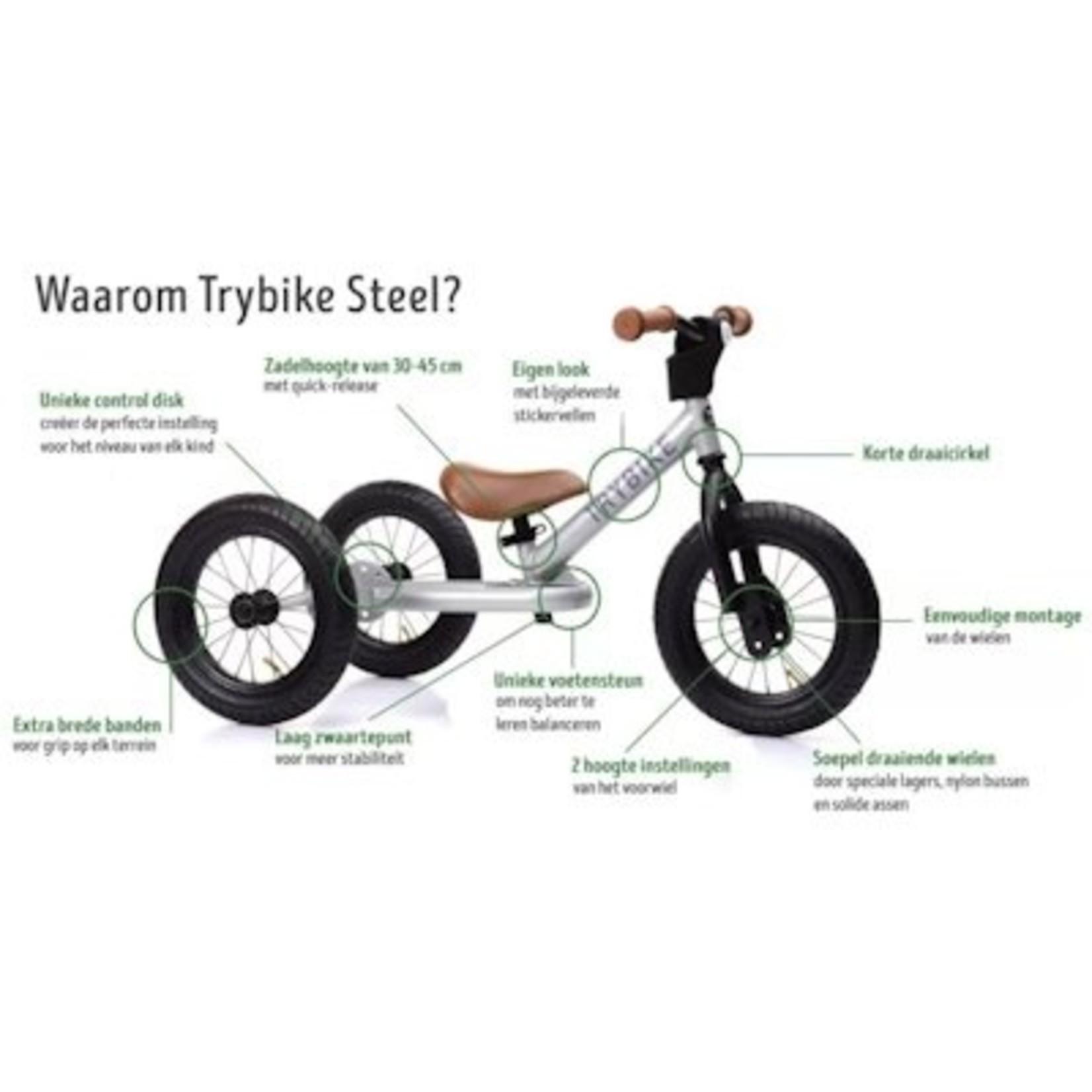 Trybike Trybike steel vintage loopfiets Grijs