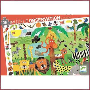 Djeco Observatiepuzzel Jungle