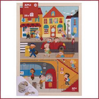 Apli Houten puzzel Stad