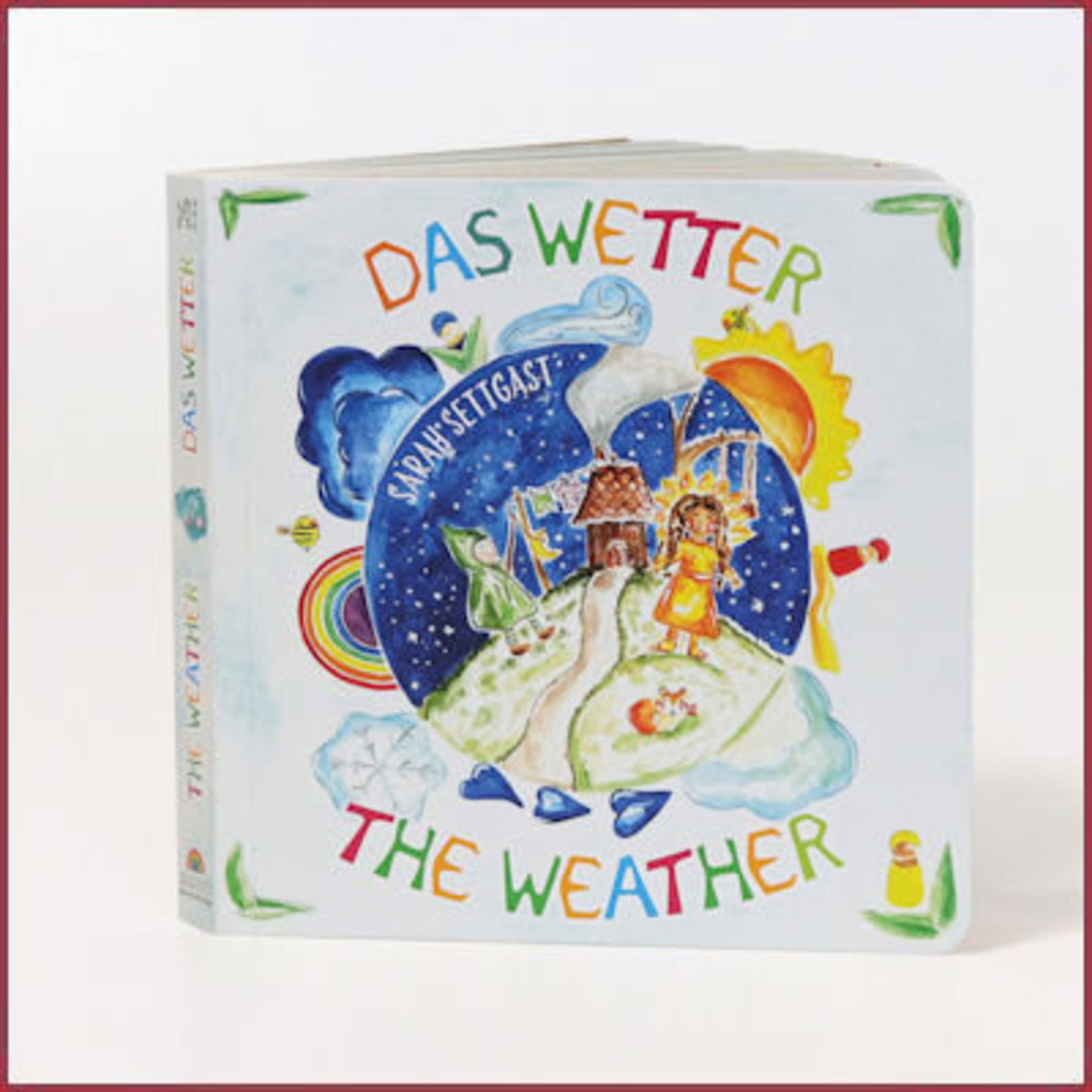 Grimm's Kartonboek Het weer, The Weather, Das Wetter
