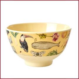 Rice Rice  Melamine Bowl with Creme Art Print Joëlle Wehkamp - Small