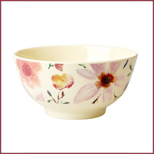 Rice Rice  Melamine kom met Selmas Flower Print - Medium