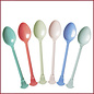 Rice Rice Melamine Vintage eetlepel in 6 Assorted 'Stay Outstanding' Colors