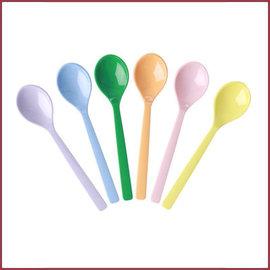 Rice Rice Melamine Thelepels in Assorti 'Let's Summer' kleuren - Bundel van 6