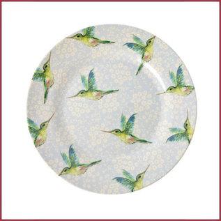Rice Rice Melamine Side Plate met Hummingbird Print