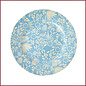 Rice Rice Melamine Side Plate met Blue Fern and Flower Print