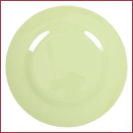 Rice Rice Melamine Rond Dinner Bord in Mint