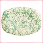 Rice Rice Melamine Rectangular Plate met Daisy Print