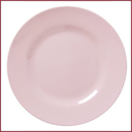Rice Rice Melamine Rond Dinner Bord in Soft Pink