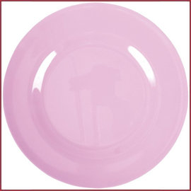 Rice Rice Melamine Rond Dinner Bord in Dark Pink