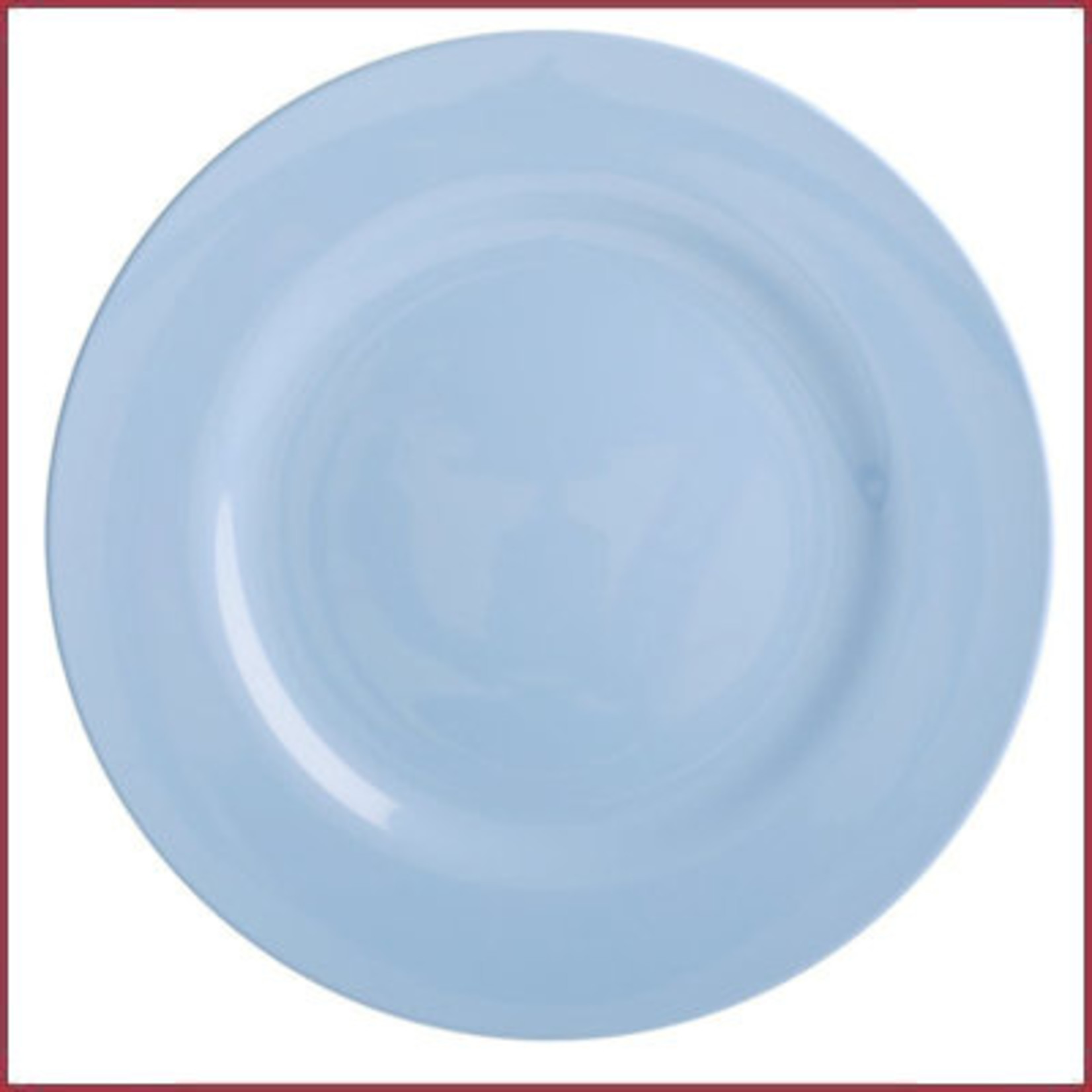Rice Rice Melamine Rond Diner Bord in Pigeon Blue