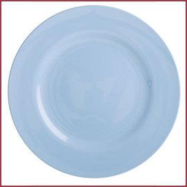 Rice Rice Melamine Rond Dinner Bord in Pigeon Blue