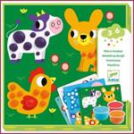Djeco Ronds de pâte, Kleiset dieren versieren 3-6
