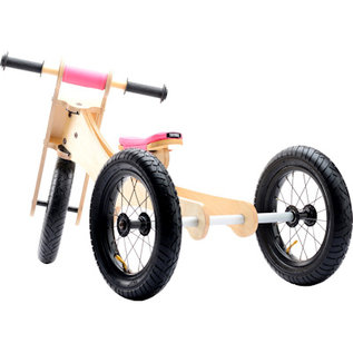 Trybike Trybike hout loopfiets 4-in-1