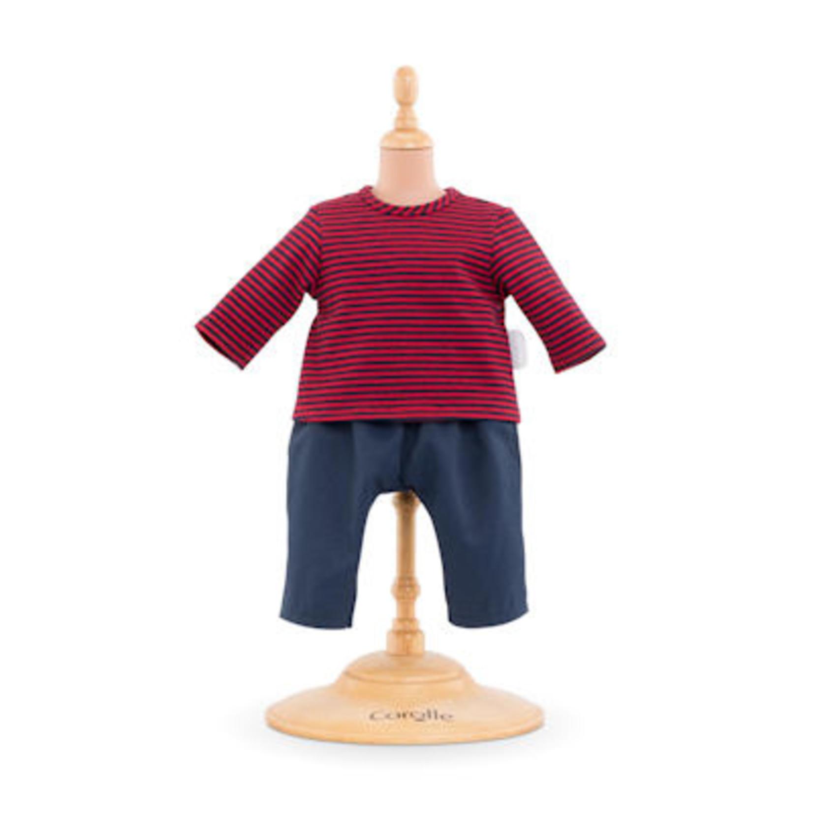 Corolle Gestreept T-Shirt en Broekje - Nieuw 30cm