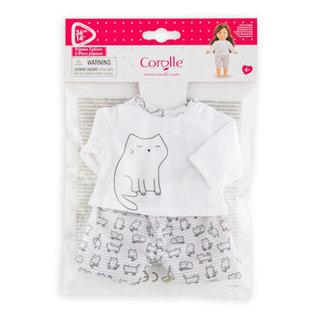 Corolle Ma Corolle 2-delige pyjama met katjes