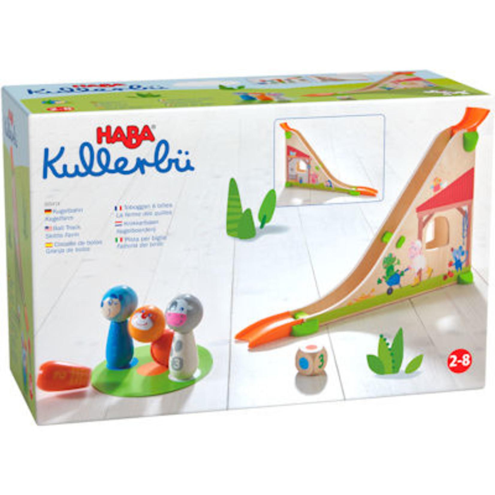 Haba Kullerbü Mijn eerste knikkerbaan Kegelboerderij