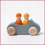 Grimm's Blauwe auto met 2 passagiers - groot