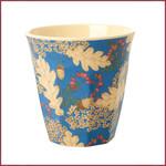 Rice Rice Melamine beker medium - herfstblad en eikeltjes print
