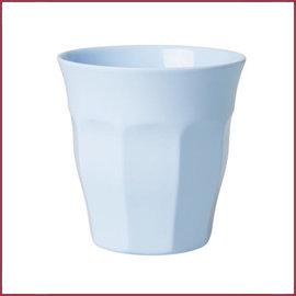 Rice Rice Melamine Beker Uni Kleur Soft Blue - Medium