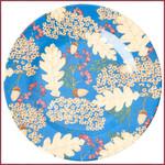 Rice Rice Melamine klein bord met herfstbladeren en eikeltjes print
