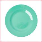 Rice Rice Melamine bord rond - Smaragd