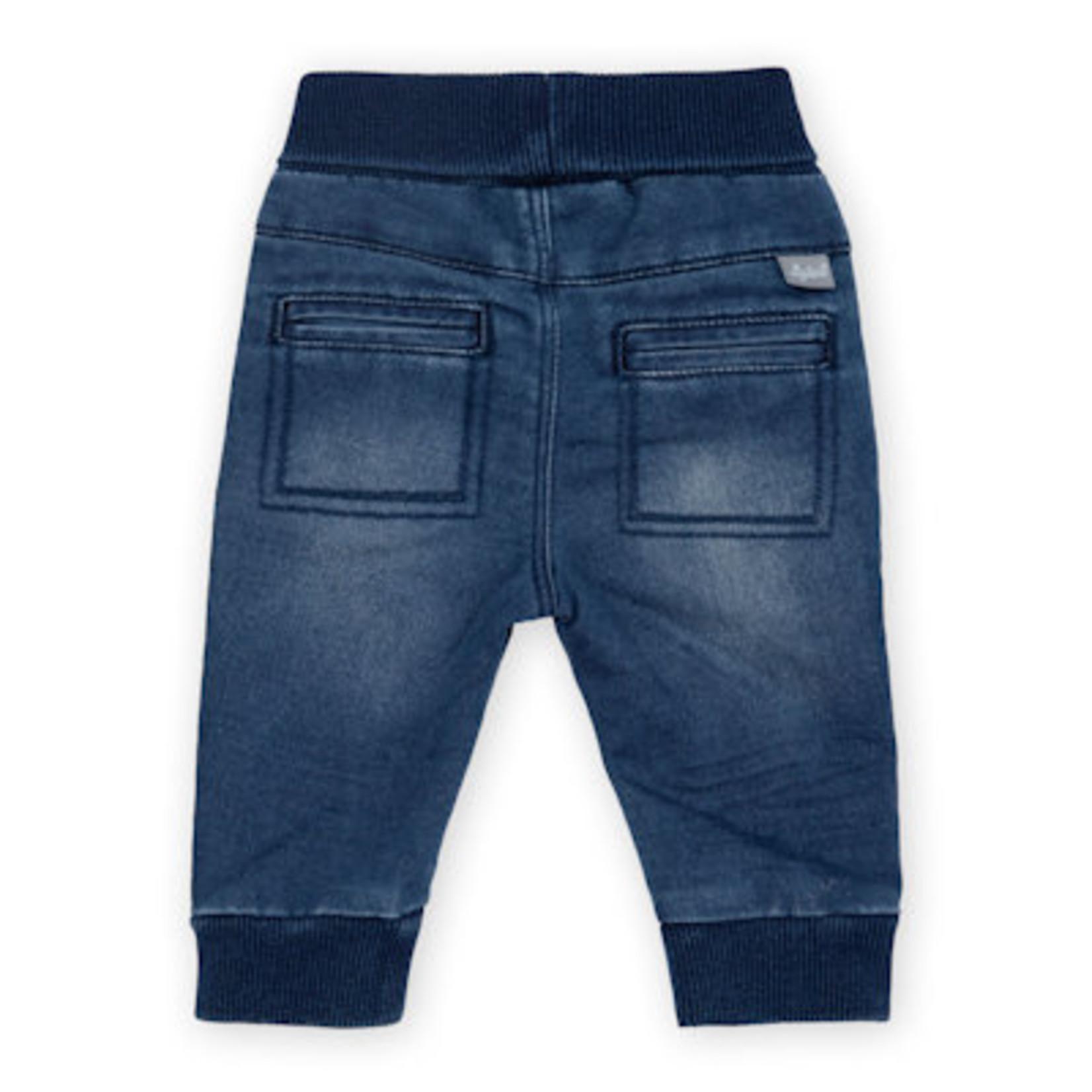 Sigikid Spijkerbroekje Baby met zachte boord, blauw