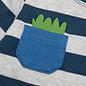Sigikid Dino truitje met lange mouw, blauw/grijs