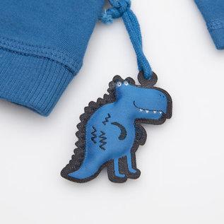 Sigikid Blauw Dino truitje met lange mouw, organische katoen