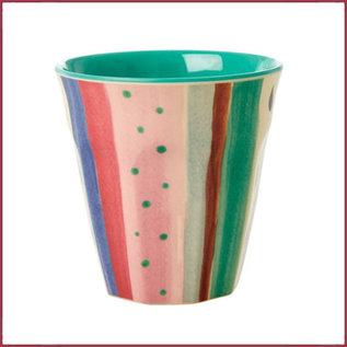 Rice Rice melamine beker met Louise's Stripe print - two tone - medium