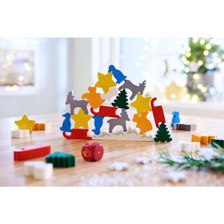 Haba Dier op dier - het Kerststapelspel