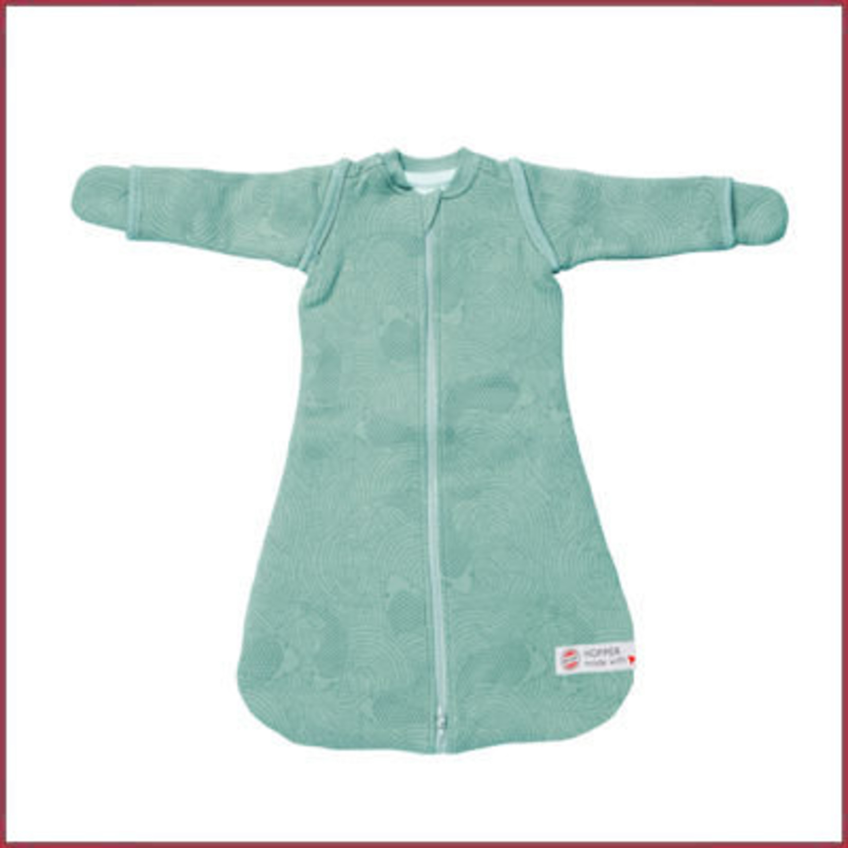 Lodger Hopper Baby Slaapzak met mouwen Empire Silt green