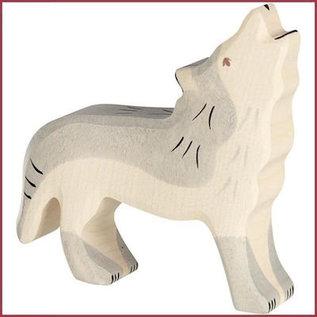 Holztiger Wolf, huilend 11 cm