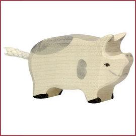 Holztiger Biggetje gevlekt 6,5 cm