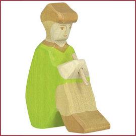 Holztiger Holztiger Herder met fluit,  groen zittend