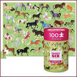 Mudpuppy Puzzel 100 st, 36 Paarden
