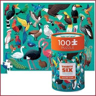 Mudpuppy Puzzel 100st, 36 vogels