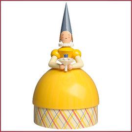 Wendt & Kühn Knauldame Prinses gele jurk